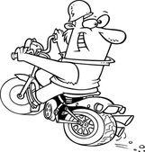 Dibujos animados de cerdo salvaje — Vector de stock