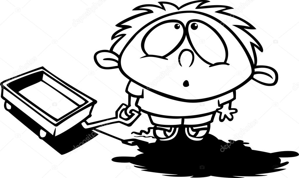 Stock Illustration Cartoon Boy Awe on 1 4 Inches Into Cm