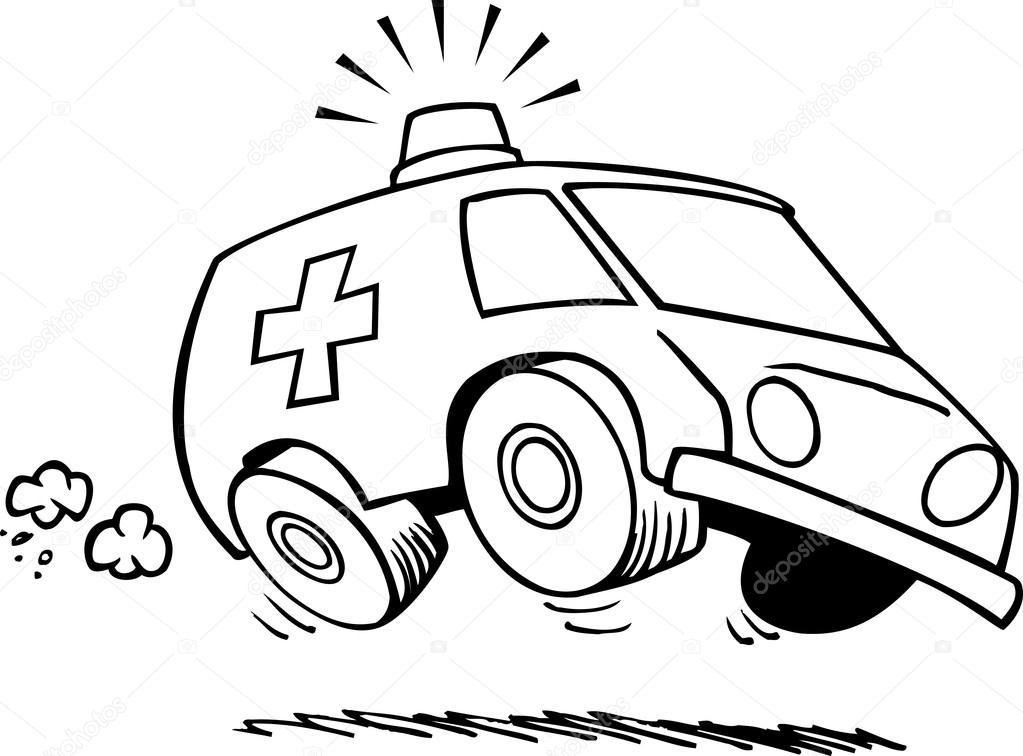 cartoon ambulance � stock vector 169 ronleishman 13981022