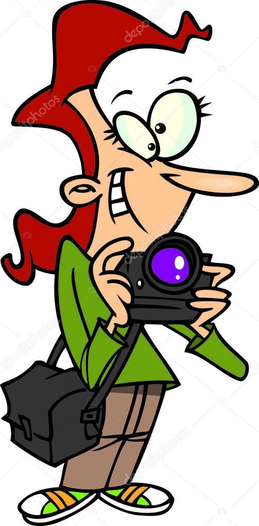 Female photographer clipart