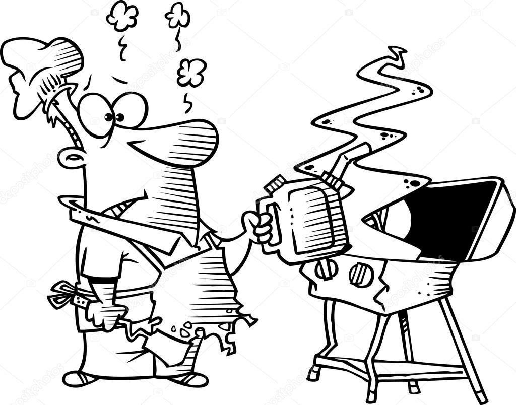 Cartoon Barbecue Grill Stock Vector 169 Ronleishman 13983276