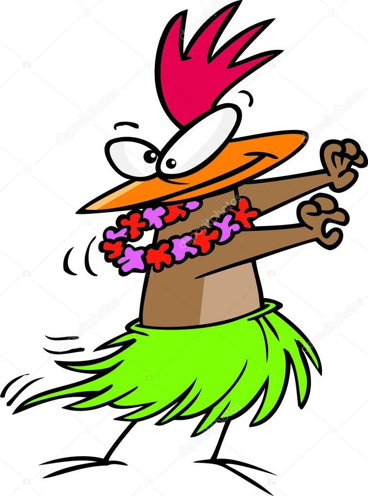 Dibujos animados hula pollo — vector de stock