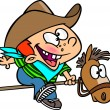 Stock Vector: Cartoon Kid Cowboy
