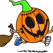Vector de stock : Cartoon Trick or Treat