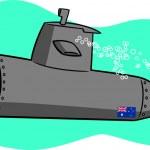 Cartoon Submarine — Stock Vector