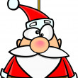 Cartoon SantClaus Christmas Ornament — Vector de stock #14001272
