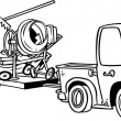 Vetorial Stock : Cartoon Truck Trailer