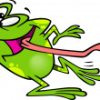 Cartoon Frog Dancing — Stock vektor