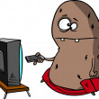 Cartoon couch potato — Stockvector  #14002793