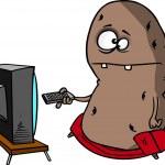 dessin animé couch potato — Vecteur