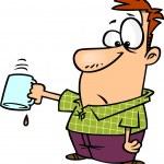Cartoon Last Drop of Coffee — Stock Vector