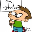 Cartoon Kid On Strike — Stock Vector #14002957