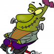 Stock Vector: Cartoon Frankenstein Tricycle