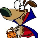 Cartoon Vampire Puppy — Stock Vector #14003534