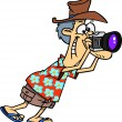 Stock Vector: Cartoon Tourist Photographer