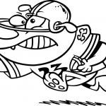 Cartoon Dog Football Player — Stock Vector