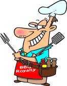 Cartoon Barbecue King — Stock Vector