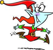 Cartoon Female Christmas Elf — Stock Vector