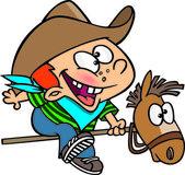 Cartoon Kid Cowboy — Stock Vector
