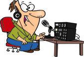 Cartoon Ham Radio — Stock Vector
