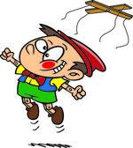 Cartoon Pinocchio Freedom — Stock Vector