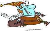 Cartoon Santa Mail — Stock Vector