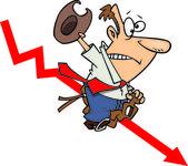 Cartoon ruwe zakelijke rit — Stockvector