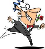 Cartoon Romantic Man — Stock Vector