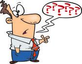 Cartoon Questioning Man — Stock Vector