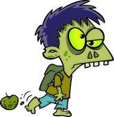 Cartoon Zombie Boy — Stock Vector