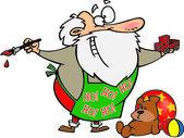 Cartoon Santa's Workshop — Stock Vector