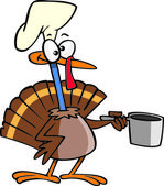 Cartoon Turkey Chef — Stock Vector