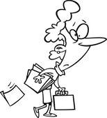 Cartoon Businesswoman — Stock Vector