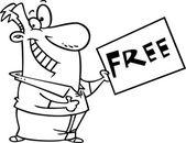 Cartoon Free Sign — Stock Vector