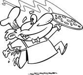 Cartoon Pizza Chef — Stock Vector