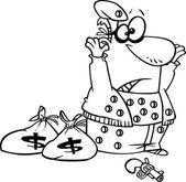 Cartoon Robber Surrendering — Stock Vector