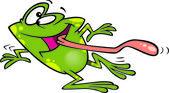 Cartoon Frog Dancing — Stock Vector