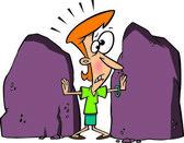 Cartoon Rock Boundaries — Stock Vector