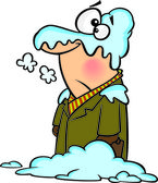 Cartoon Snow Blanket — Stock Vector