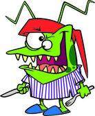 Cartoon Bed Bug — Stock Vector
