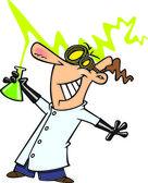 Cartoon Mad Scientist — Stock Vector