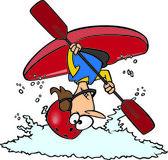 Cartoon Female Kayaker — Stock Vector