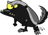 Cartoon Honey Badger — Stock Vector