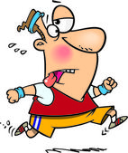 Cartoon Man Jogging — Stock Vector