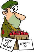 Cartoon Man Out of Work — Stock Vector