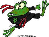Cartoon Karate Frog — Stock Vector