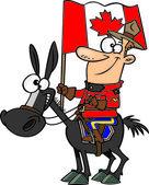 Cartoon Mountie — Stock Vector