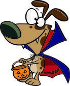Cachorro de vampiro de dibujos animados — Vector de stock