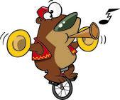 Cartoon Circus Bear — Stock Vector