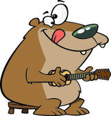 Cartoon Ukulele Bear — Stock Vector